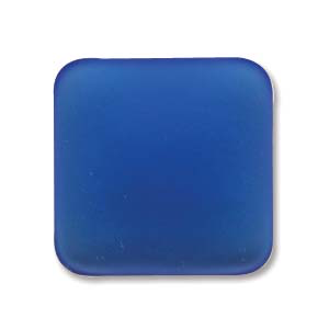 Lunasoft 17mm Square Cabochon Blueberry