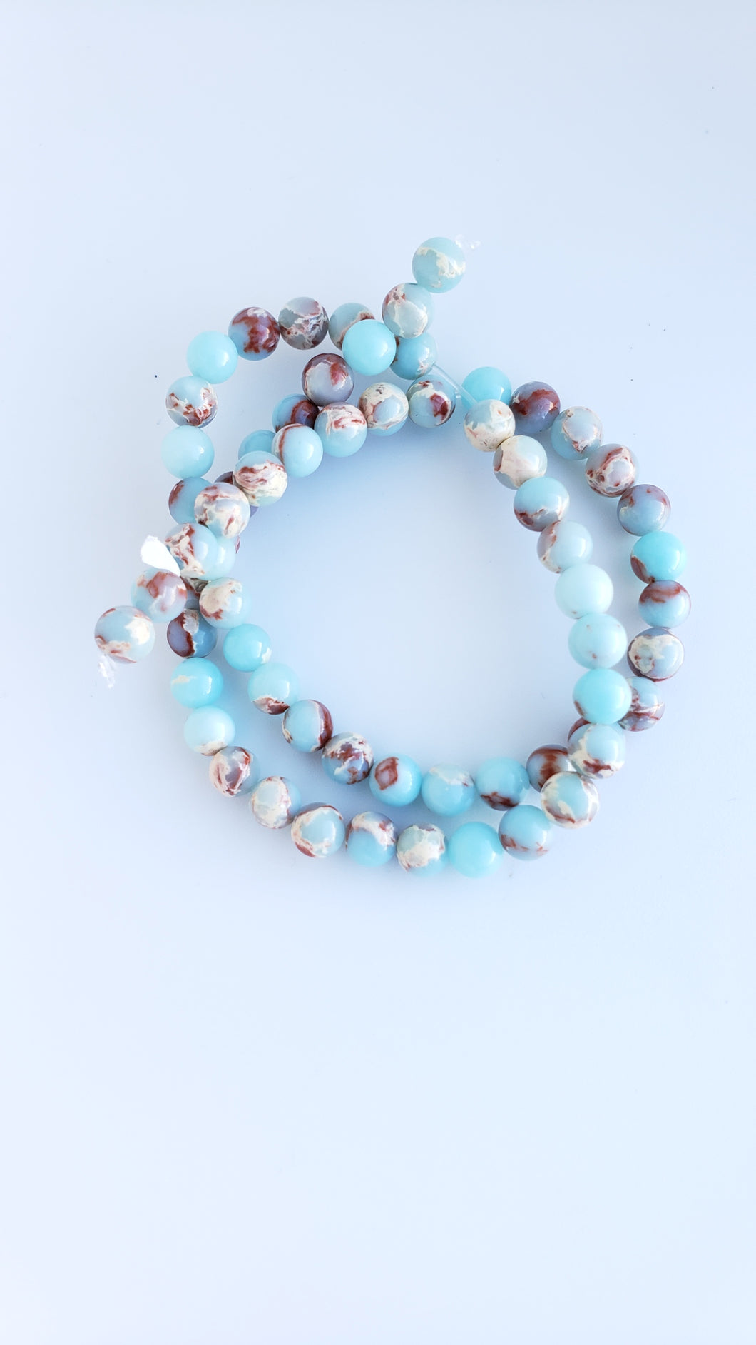 6mm Powder Blue Impression Jasper 16