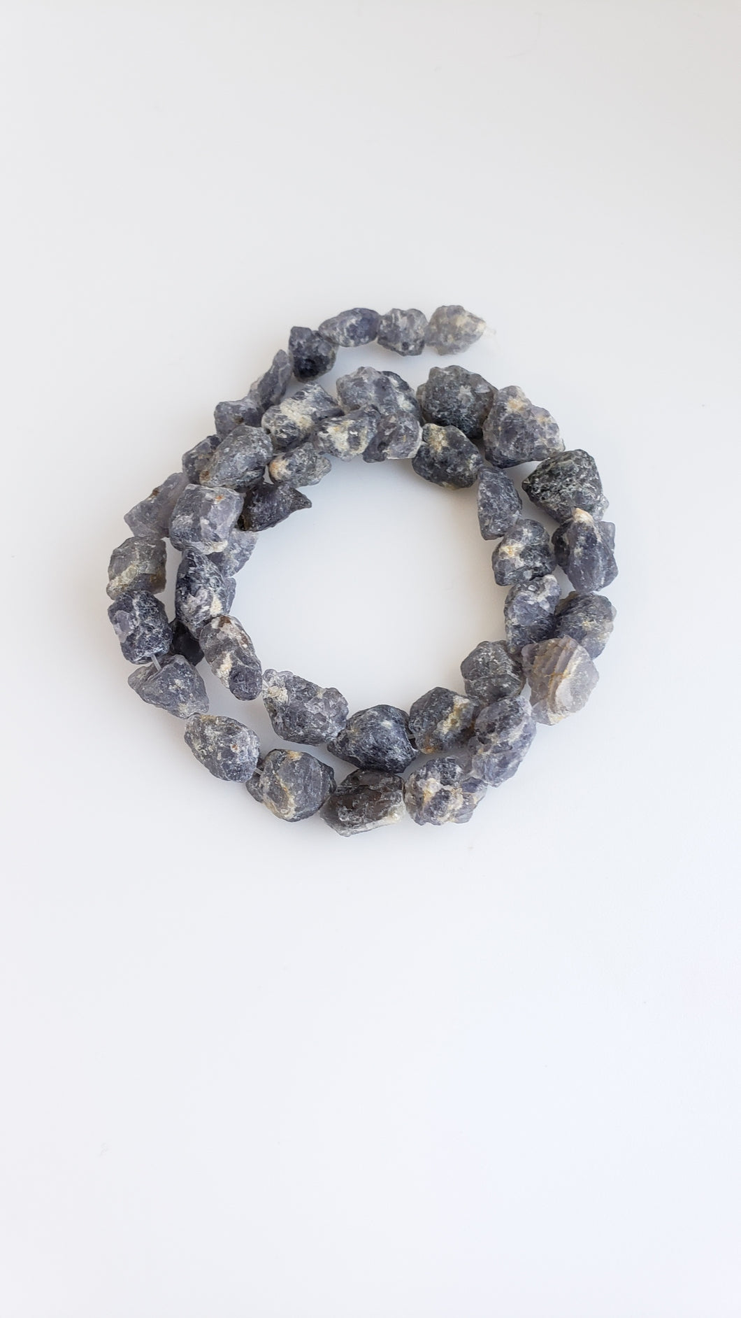Iolite Rough Bead Strand Irregular nugget
