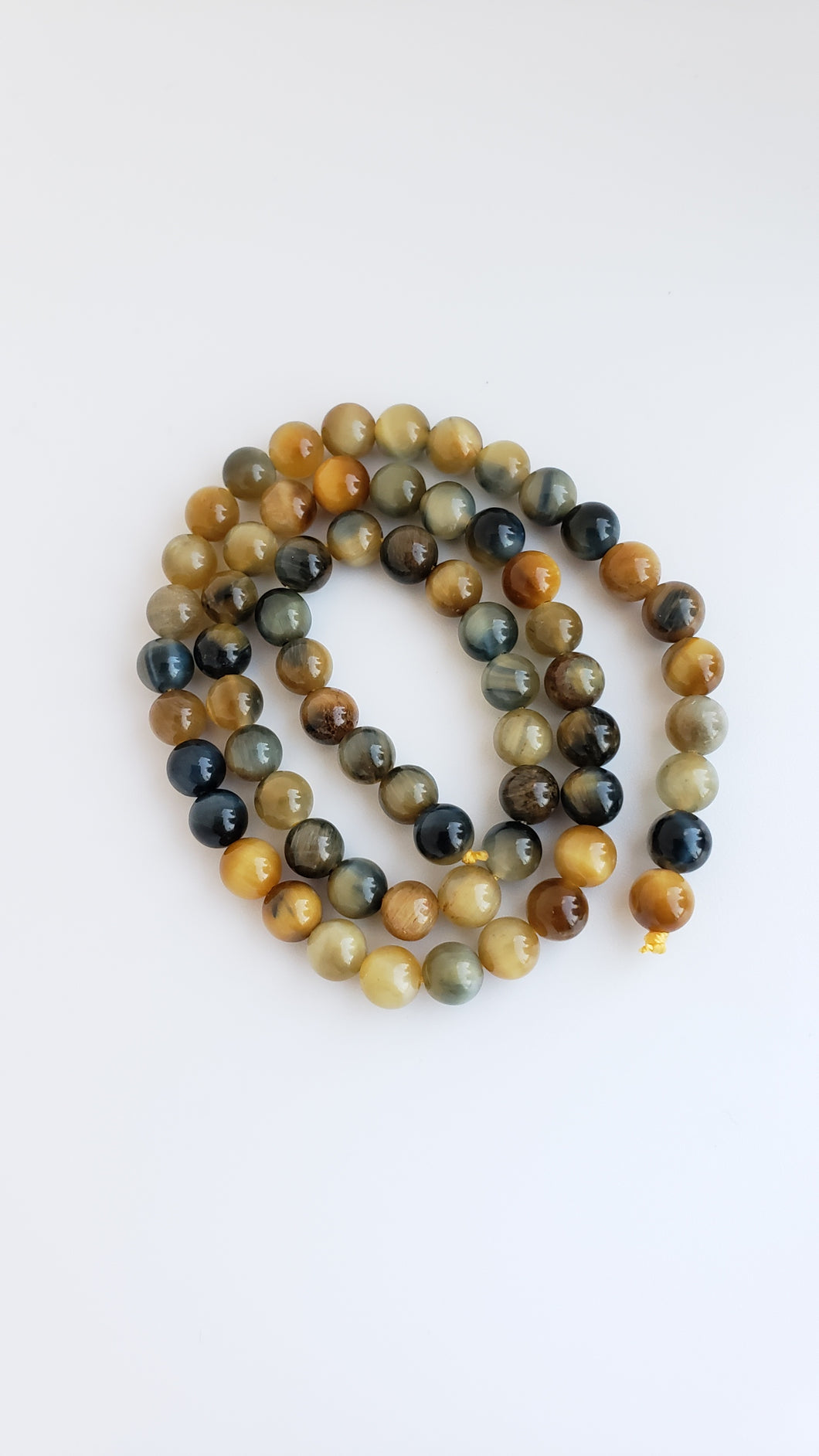 6mm Tiger Eye Golden Blue Round 16