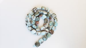 10mm Larimar Puffed Square beads