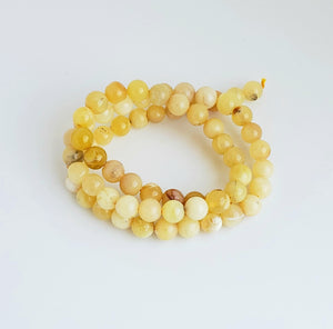 6mm Yellow Opal Bead Strands