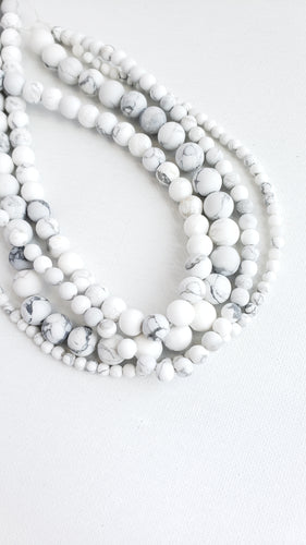 6MM WHITE HOWLITE MATTE 16