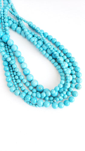 8MM TURQUOISE HOWLITE 16