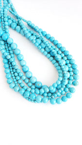 "6MM TURQUOISE HOWLITE 16"" STRAND"