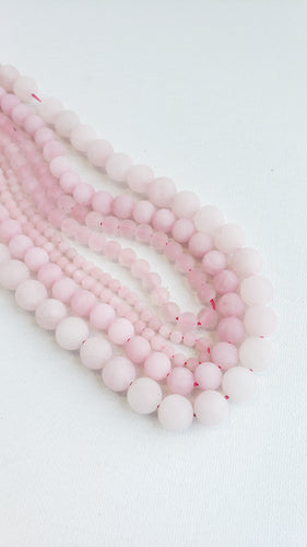 8MM ROSE QUARTZ MATTE 16