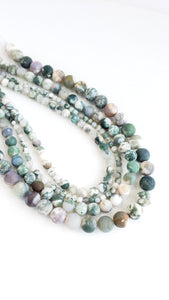 "8MM TREE AGATE MATTE 16"" STRAND"