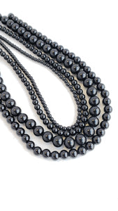 "8MM BLACK ONYX POLISHED 16"" STRAND"