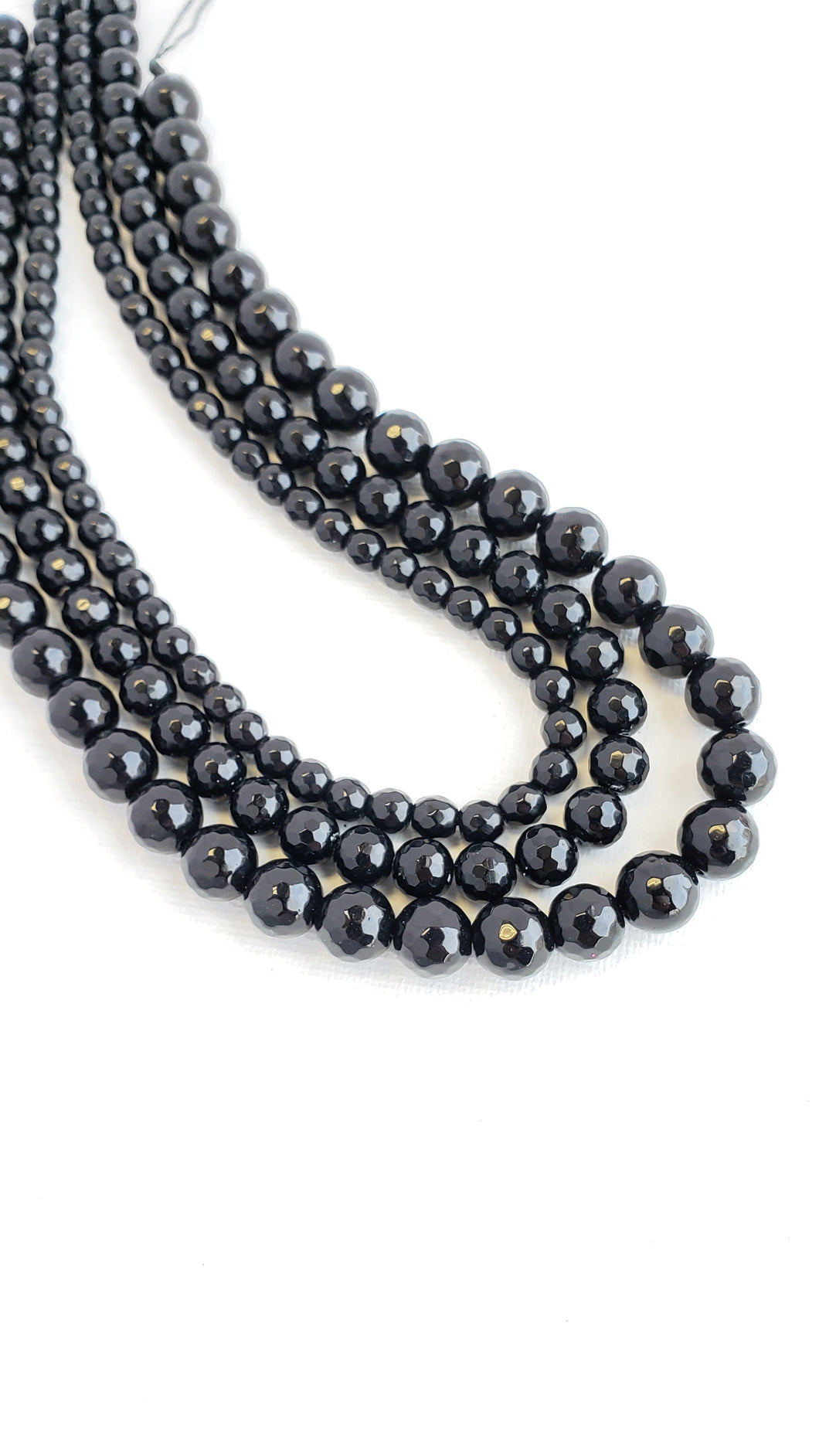 8MM BLACK ONYX FACETED 16