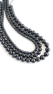 "6MM BLACK ONYX FACETED 16"" STRAND"