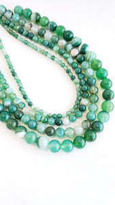 "10MM AGATE GREEN DYED 16"" STRAND"