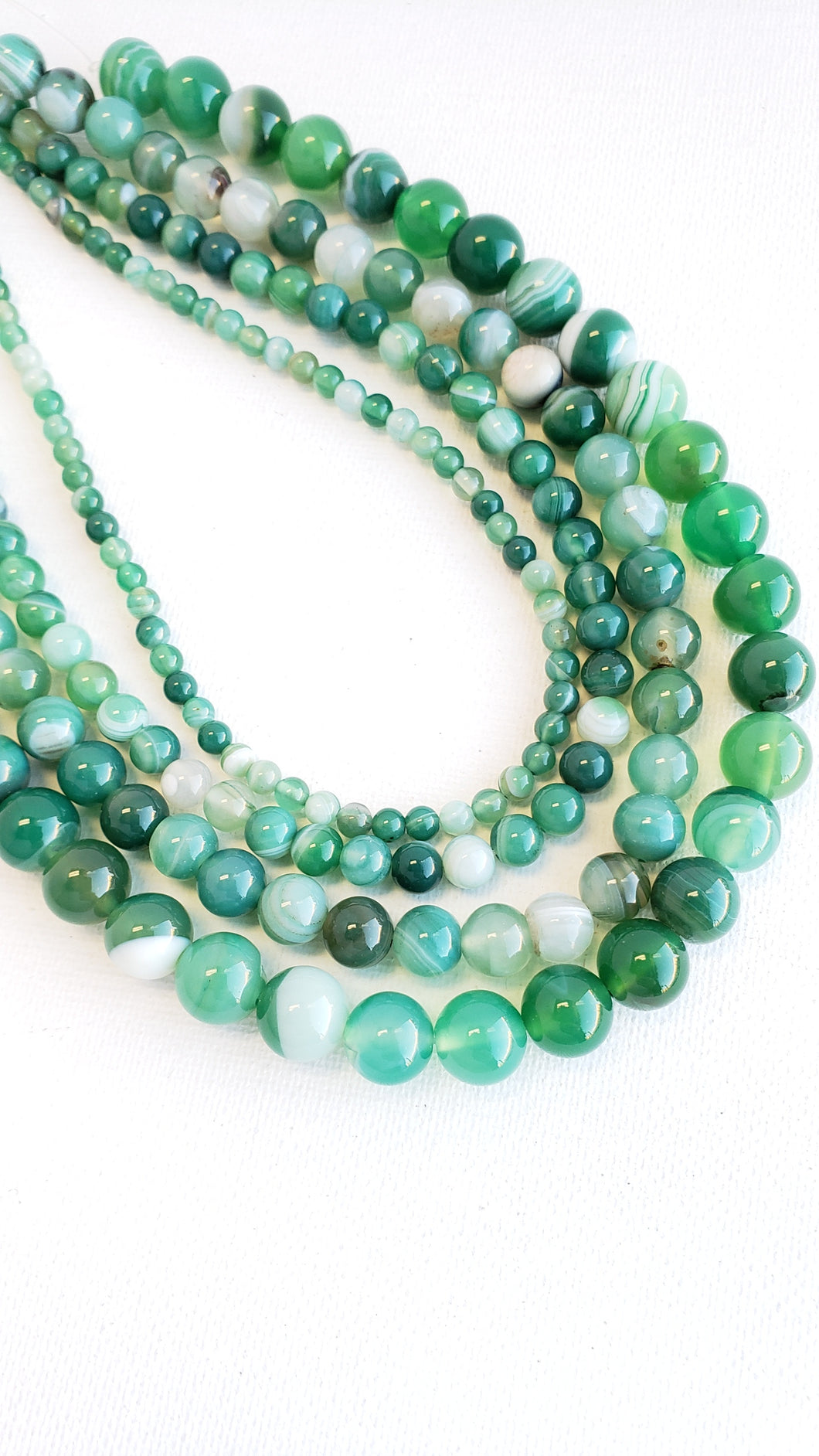 10MM AGATE GREEN DYED 16