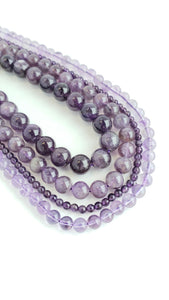 "6MM AMETHYST POLISHED 16"" STRAND"