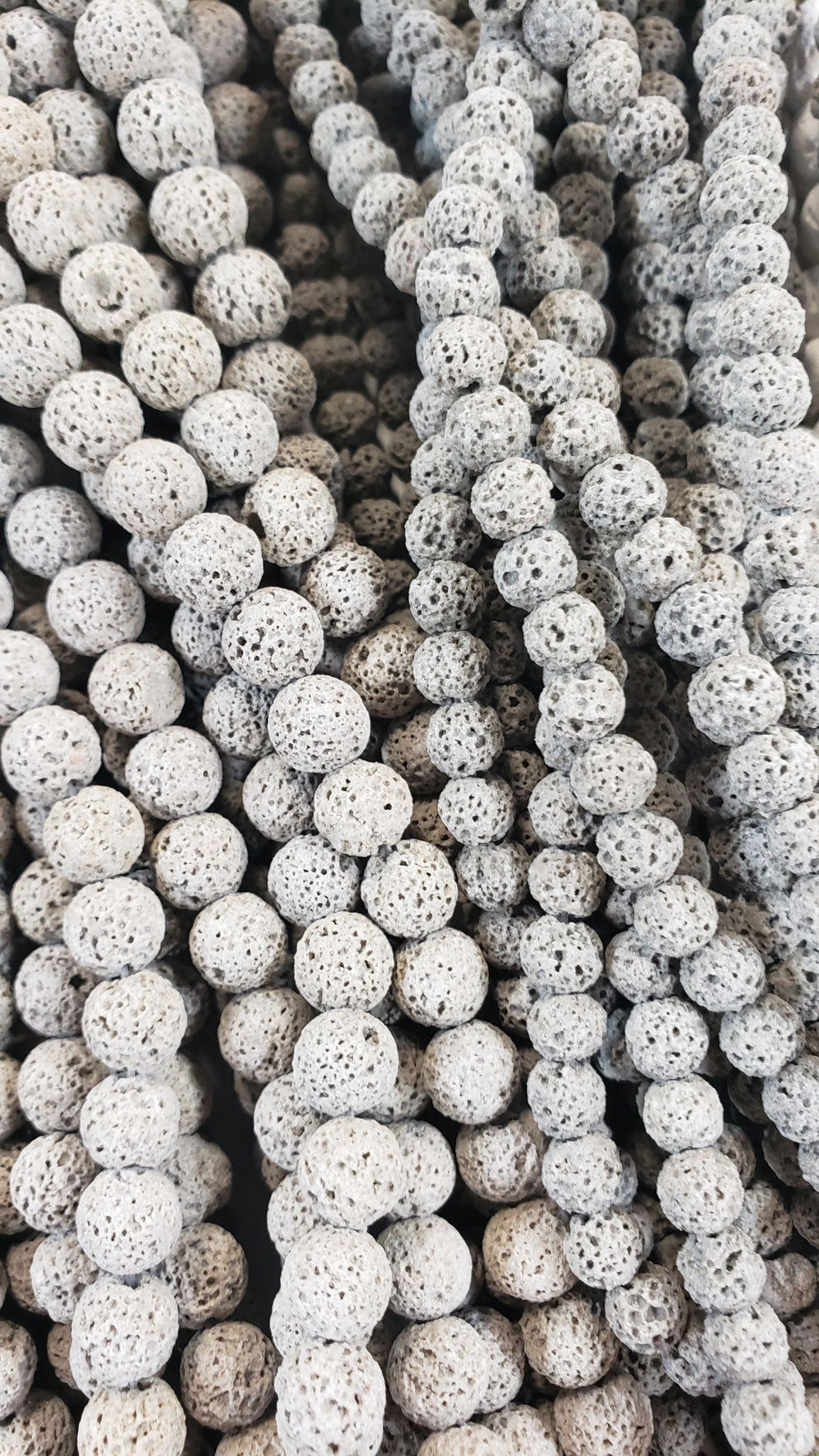 6mm Grey Lava Bead