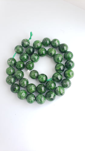 12mm Diopside Bead Strand 16