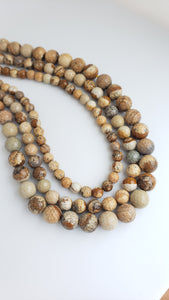 "6MM PICTURE JASPER FACETED 16"" STRAND"
