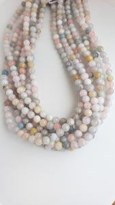 6mm Morganite Bead Strand 16""