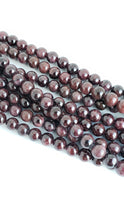 "Load image into Gallery viewer, 6mm Garnet Round 16"" Strand"