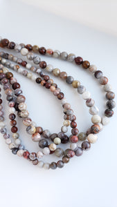 "Laguna Lace Agate  8mm Round 16"" strand approx."