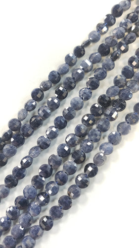 4mm Faceted Sapphire Coins