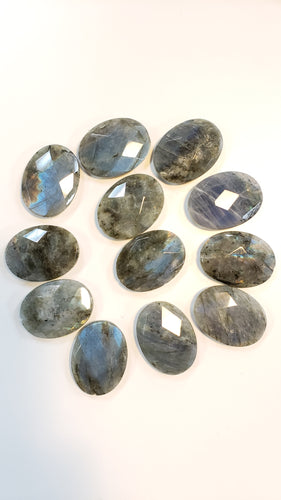 Large Labradorite Oval Bead Faceted