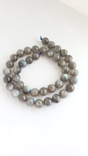 10mm Round High Flash Labradorite Strand