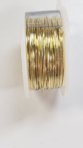 Yellow Brass - Wire Wrapping Wire - Copper Core - Non-Tarnish - Parawire - 18, 22, 24, 26, 28 Gauge