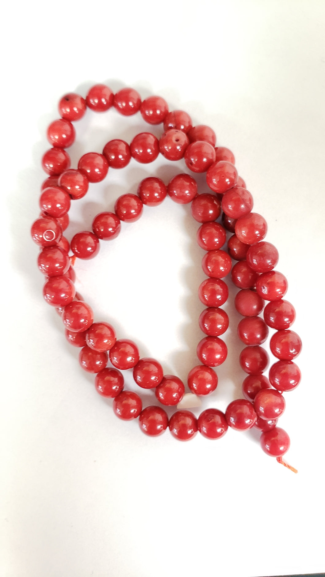 Coral 6mm Round Deep Red 15.5