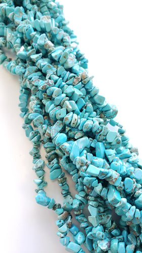 Turquoise Howlite Chips Strand