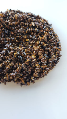 Tigers Eye Chips Strand 30