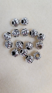 Focal bead Pewter 8x9mm 15pcs antique silver