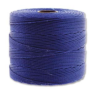 Fine Nylon Knotting Cord Capri Blue 118yard