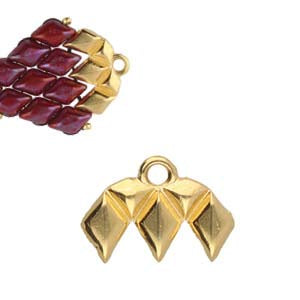 Cymbal Kalamos III - Gemduo Bead End 1 pair 24K Gold Plated