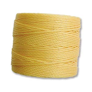 Medium Nylon Knotting Cord Sunny Yellow 77 yards