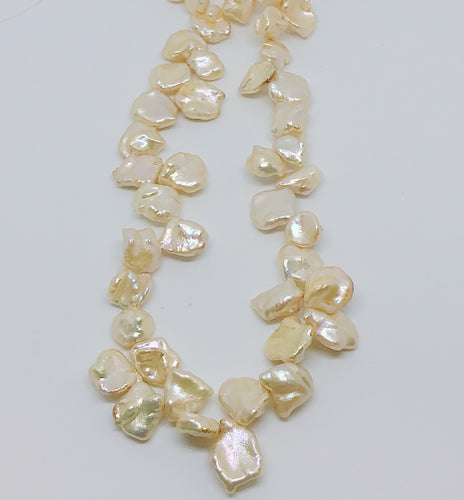 Peach Baroque freshwater Pearls