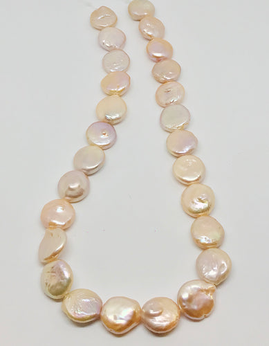 Peach Round Freshwater Pearls