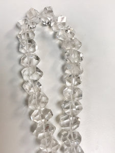 "Crystal Quartz Graduated Strand Polished Faceted 16"" Strand Approx"