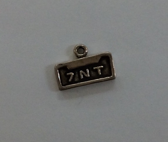 Sterling Silver Charm, License Plate