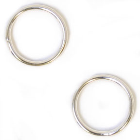 Jump Ring Soldered 10mm 50pcs 19ga Silver Plated