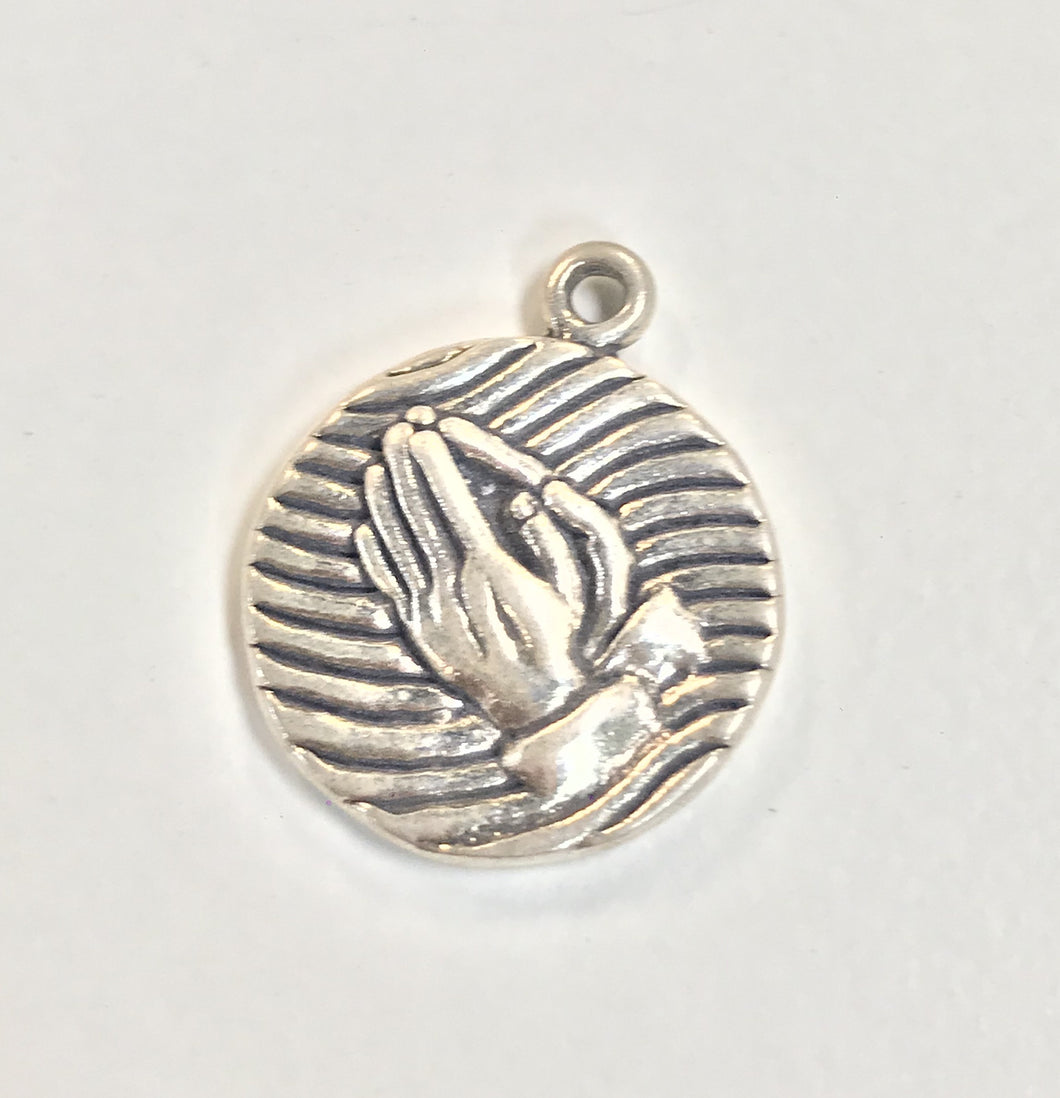 Sterling Silver Charm, Praying Hands