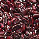 Chilli Beads Red Travertine 25pcs Preciosa