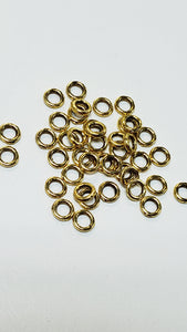 Pewter Spacer Rings Goldtone 4mmx1mm