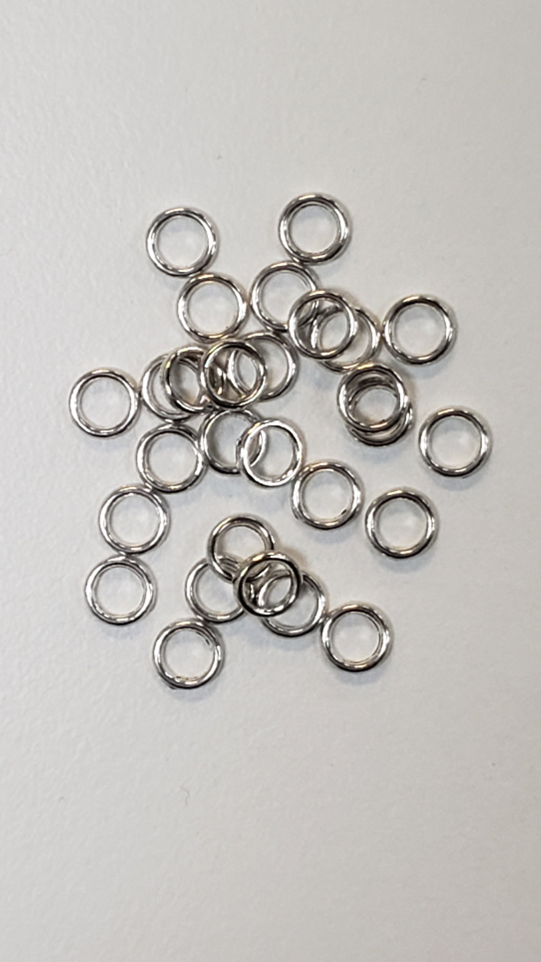 Pewter Silver Rings 6mm.