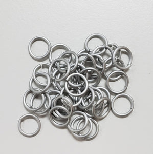 "Jump Rings White 18swg 3/16"" (5.0mm)ID 4.2AR"