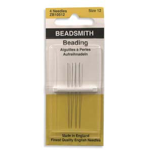 Beading Needles Size 13. 4pc