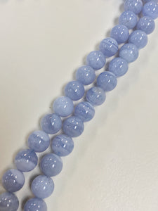"Chalcedony 8mm Round 16"" Strand Approx"