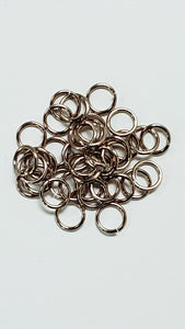 "Jump Rings Champagne Aluminum 100pc 18swg 1/4""(6.7mm) ID 5.6AR"