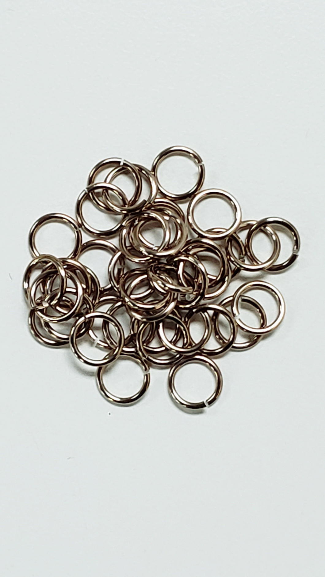 Jump Rings Champagne Aluminum 100pc 18swg 1/4