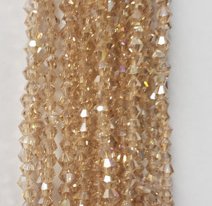 "3MM BICONE CRYSTAL STRAND 18.5"" - BUBBLY AB"