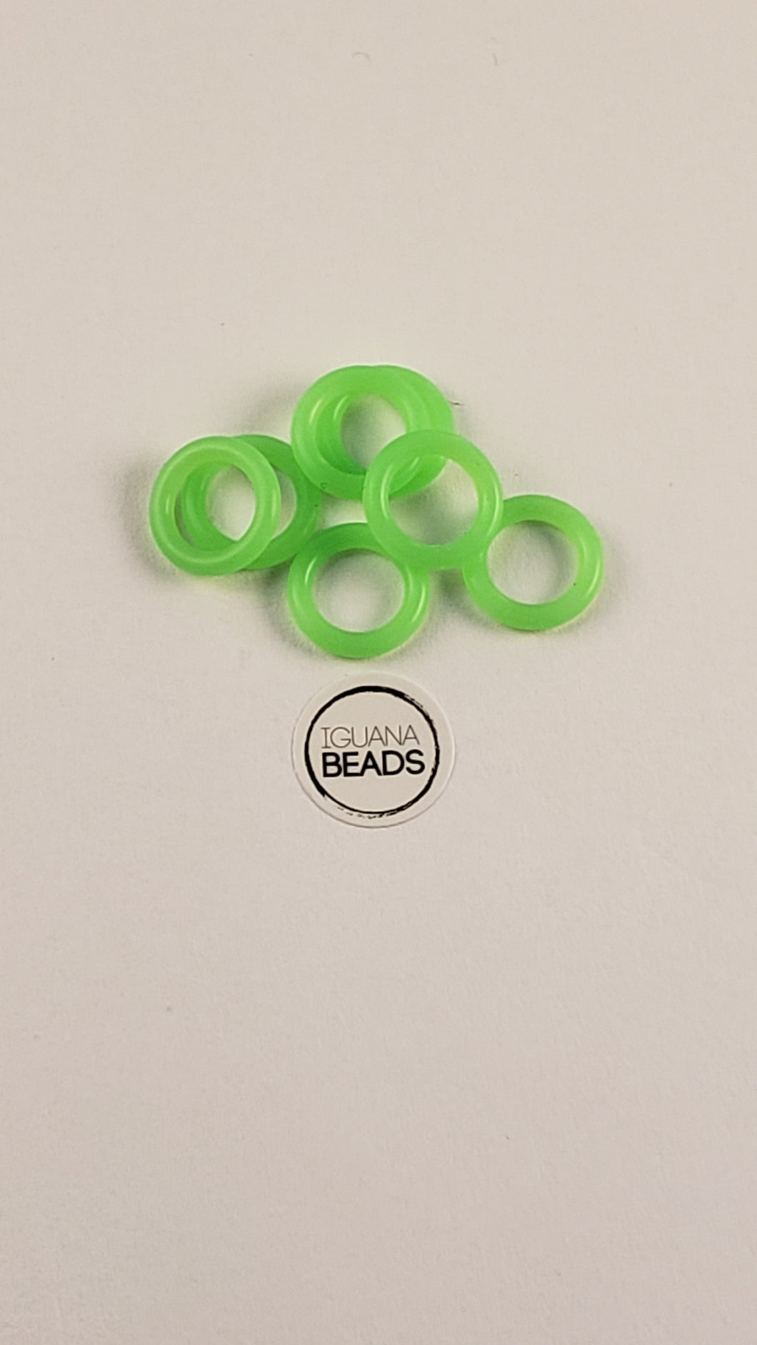 Rubber Rings Glow in the Dark! Green 16G 1/4